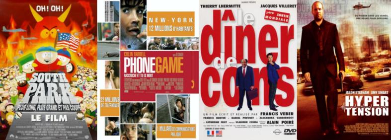 top 5 films 1H30